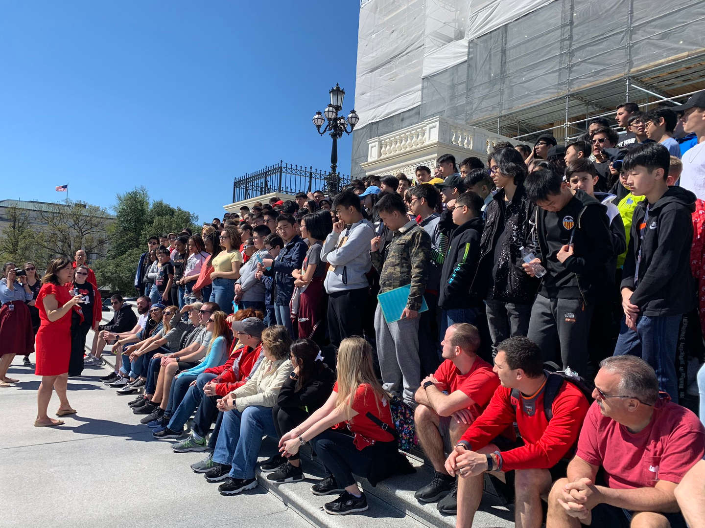 Congresswoman addresses students during 8th grade trip