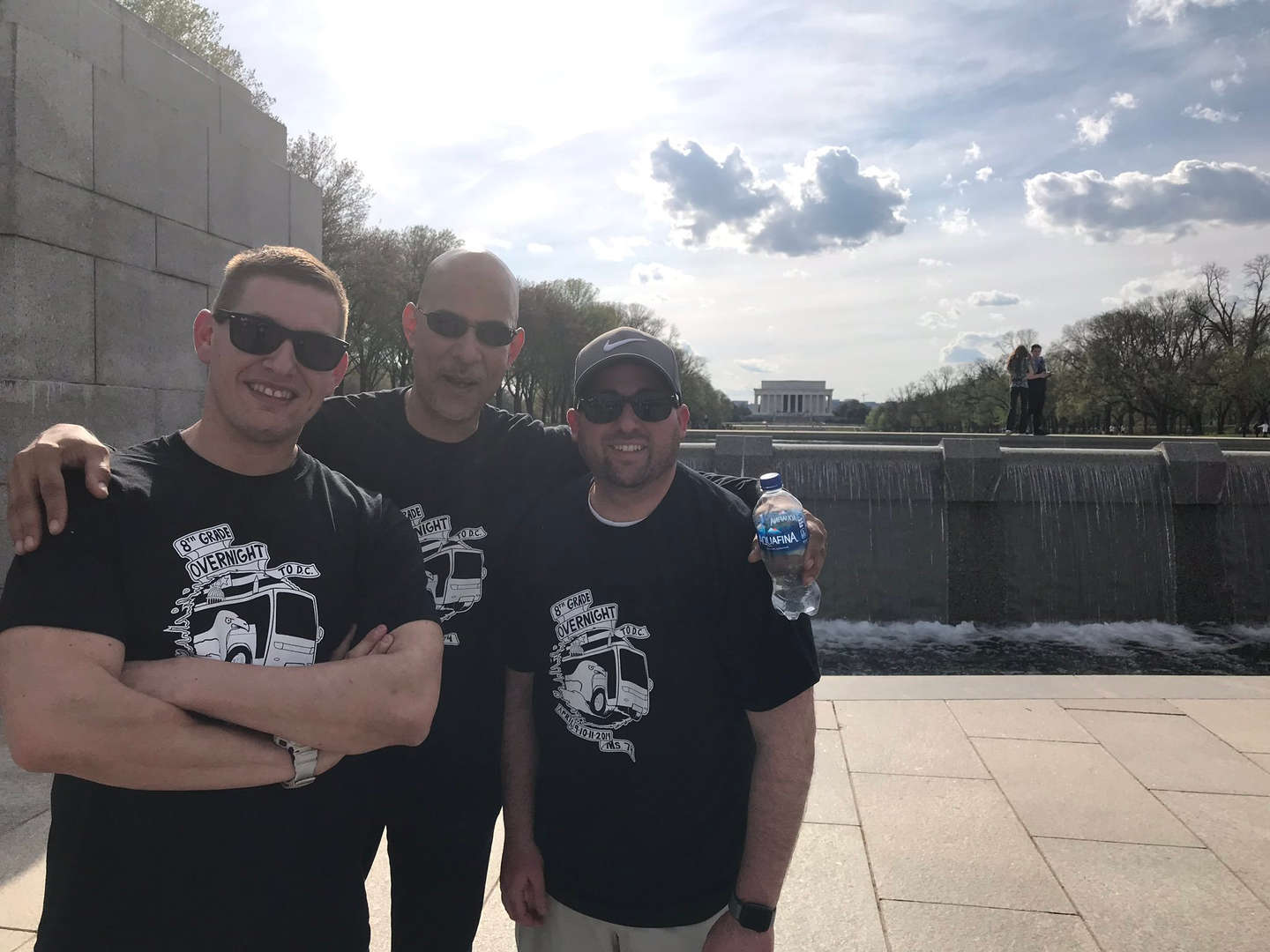 Administrators on the 8th grade trip to Washington DC