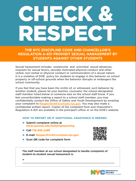 Check and Respect Poster