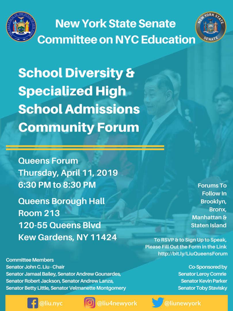 School Diversity & Specialized High School Admissions Community Forum