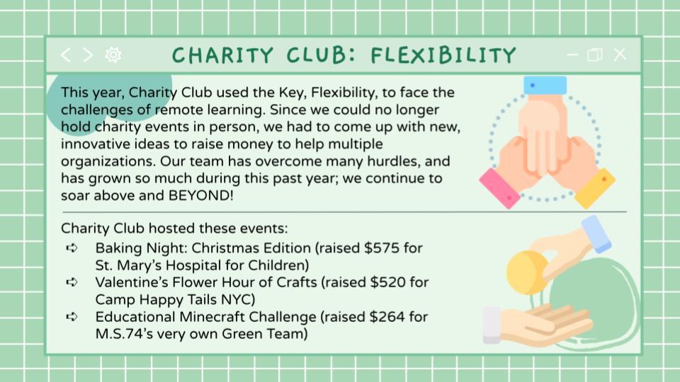 Charity Club Flexibility