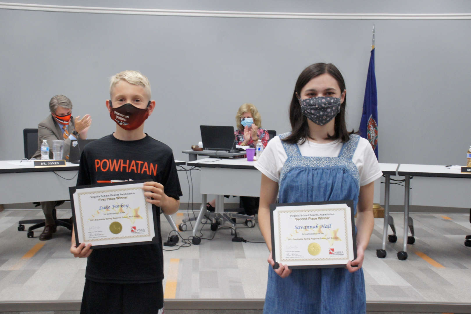 Luke Forkey & Savannah Hall receive VSBA Art awards