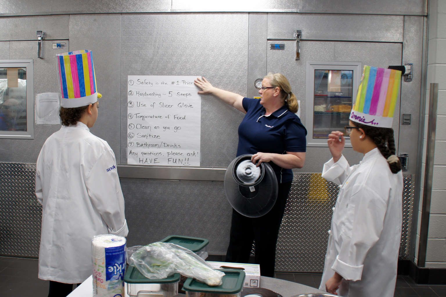 Cooking Competition students learn safety in the kitchen
