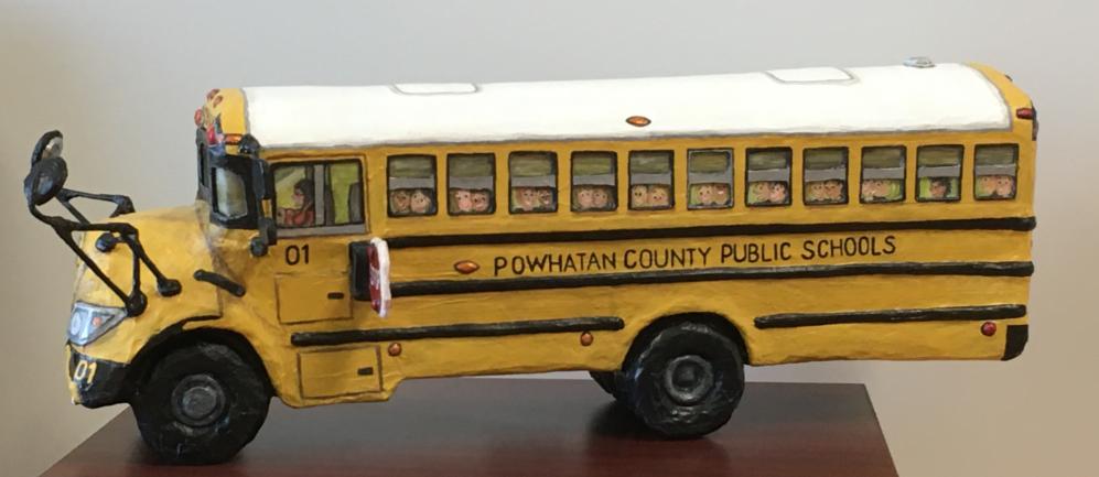 School bus artistic rendering by Jody Decker