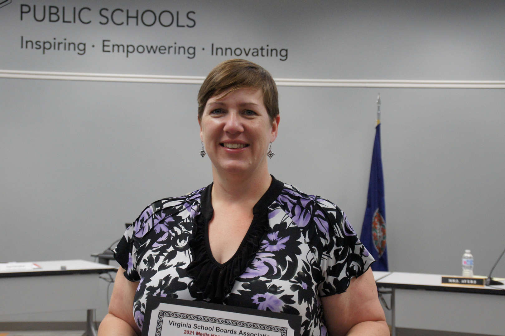Laura McFarland, Powhatan Today, recognized for the VSBA Media Honor Roll