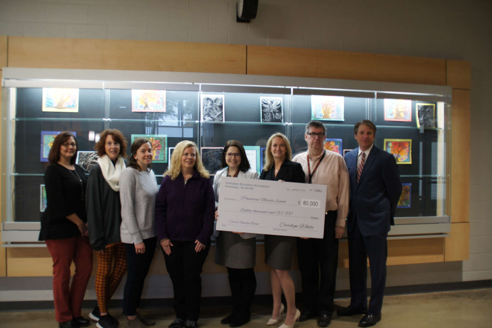 Pocahontas Middle receives Powhatan Education Foundation/Curtis Family Grant