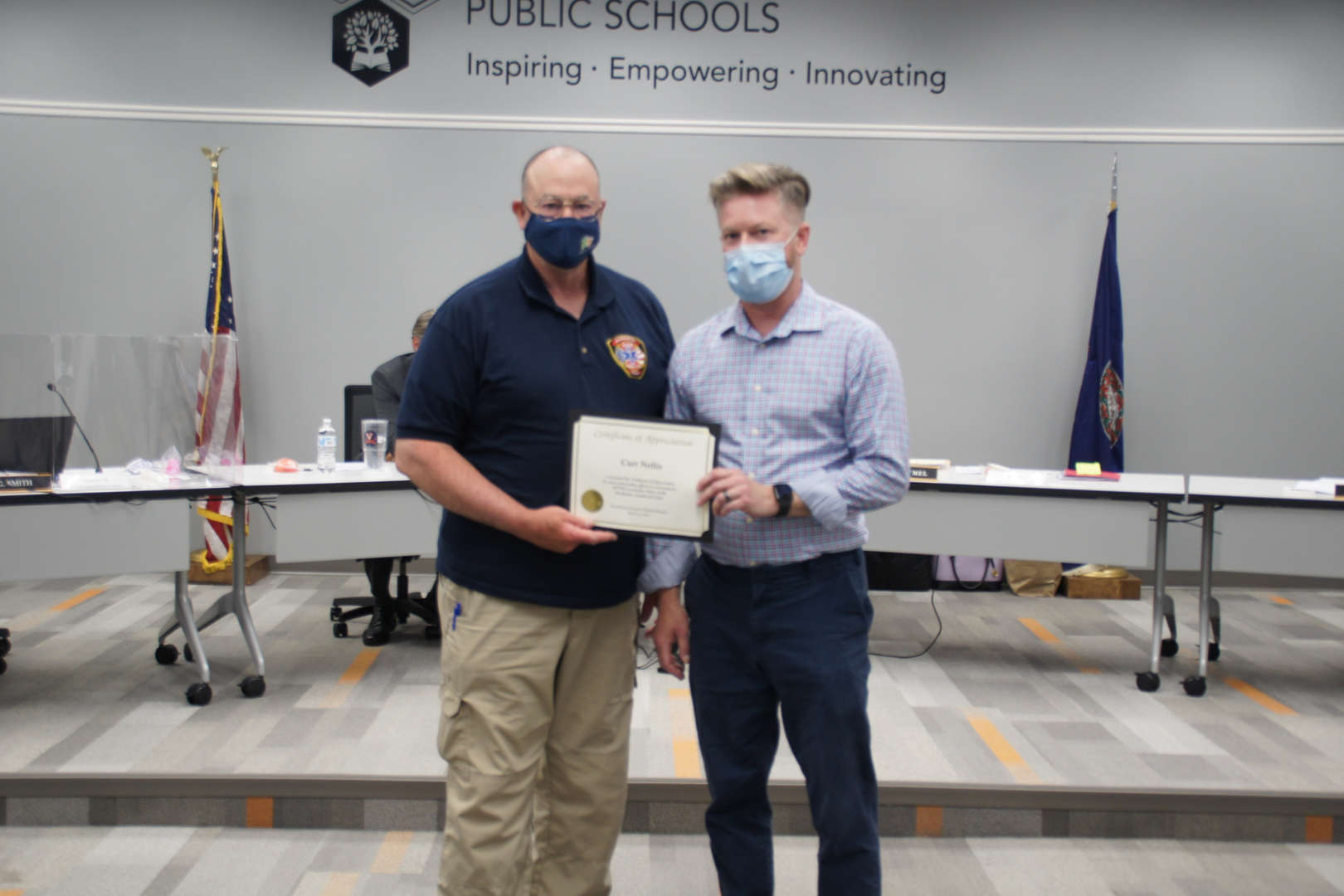 Curt Nellis & Blanton Marchese receive EMS awards