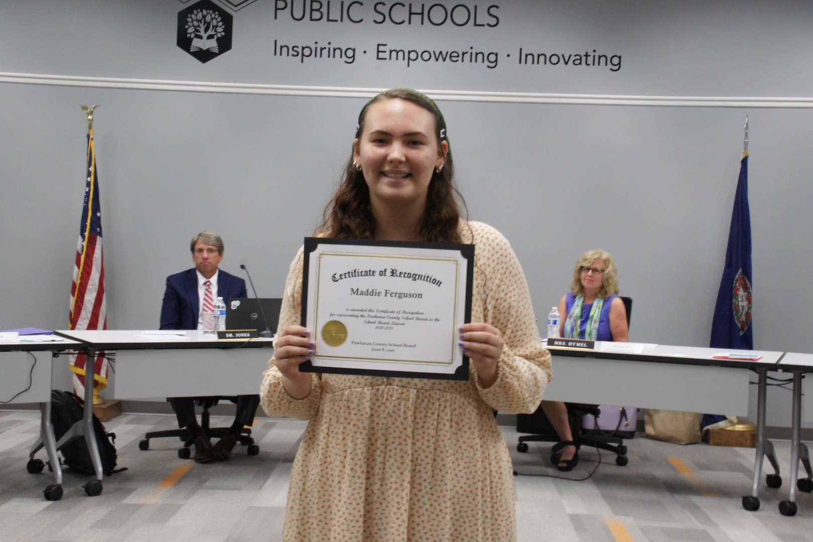 School Board Student Liaison - Maddie Ferguson