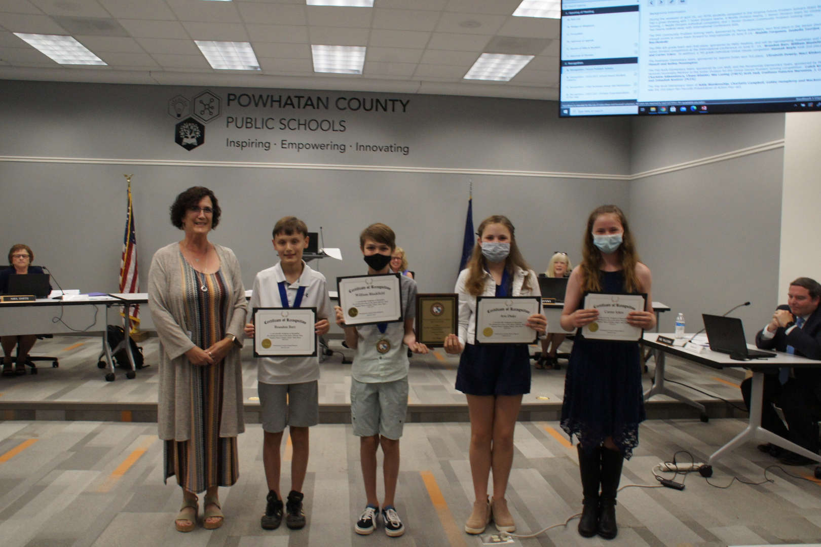 PMS first place win at Virginia Future Problem Solvers State Bowl.