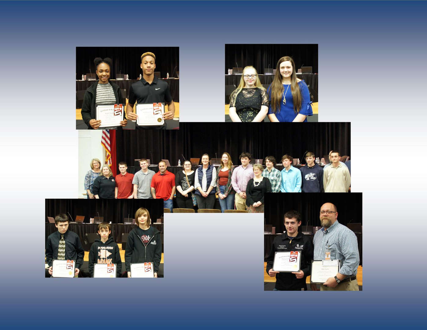 Student and Staff Recognitions at March 12, 2019 School Board Meeting