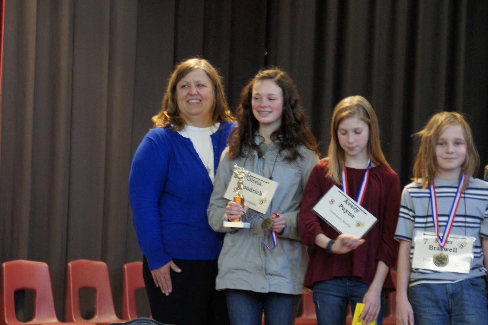 Mrs. Tracy Ingle with Winner, Olivia Goodrich