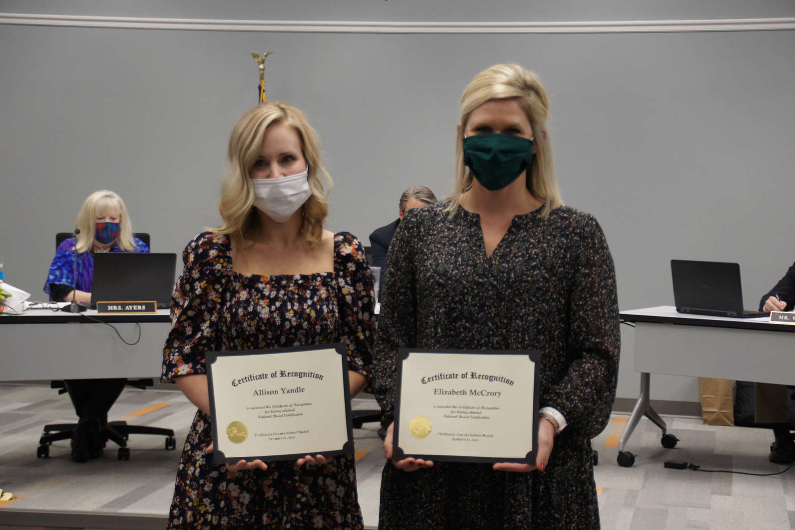 Allison Yandle & Elizabeth McCrory recognized for national board certification