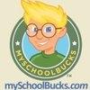 """""""Bucky"""" MySchoolBucks logo"""