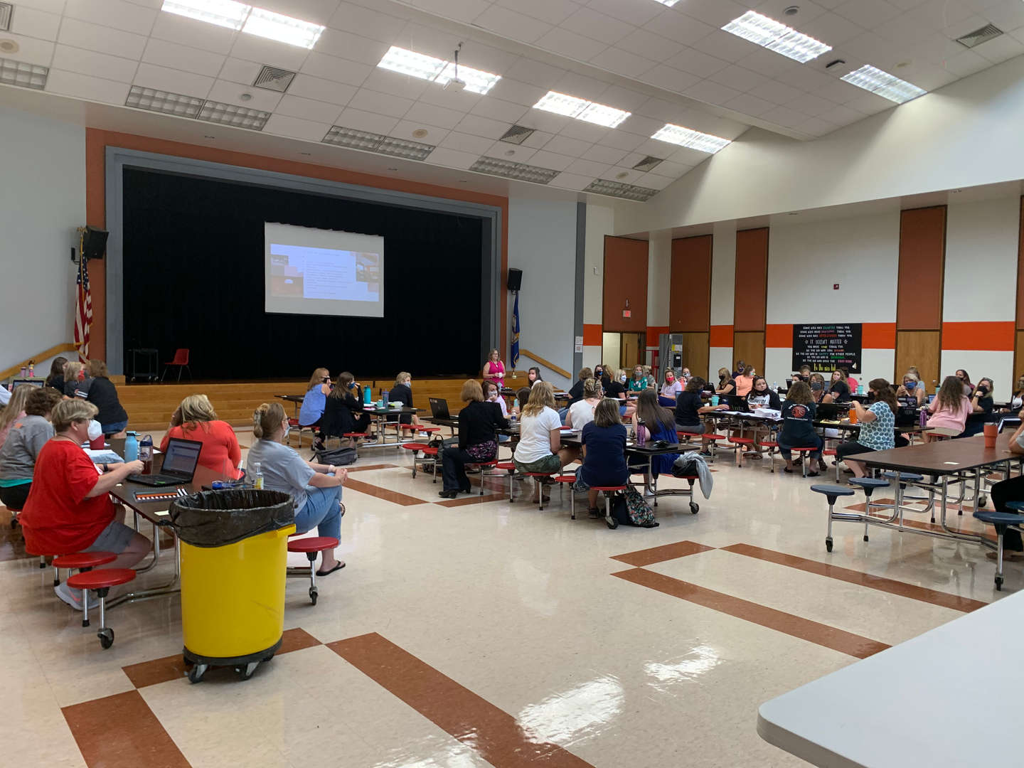 Powhatan Elementary teachers return to work.