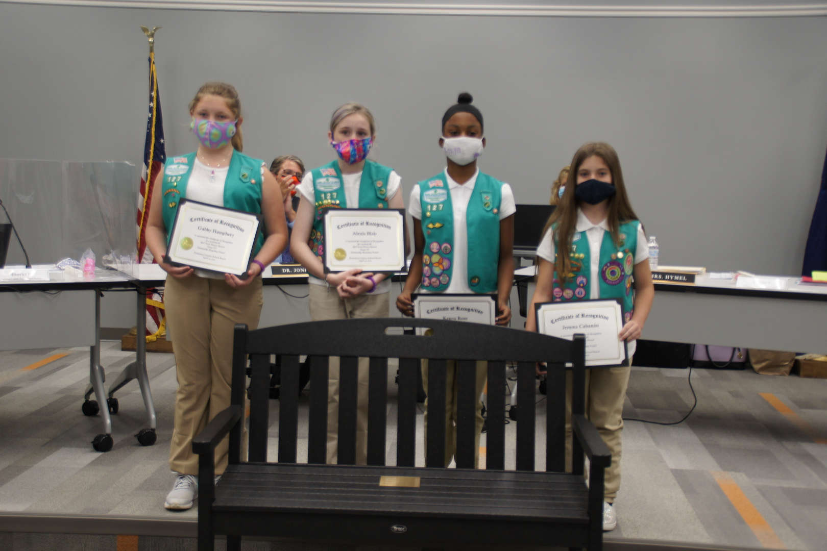 Girl Scout Troop 127 receives Recycling Award