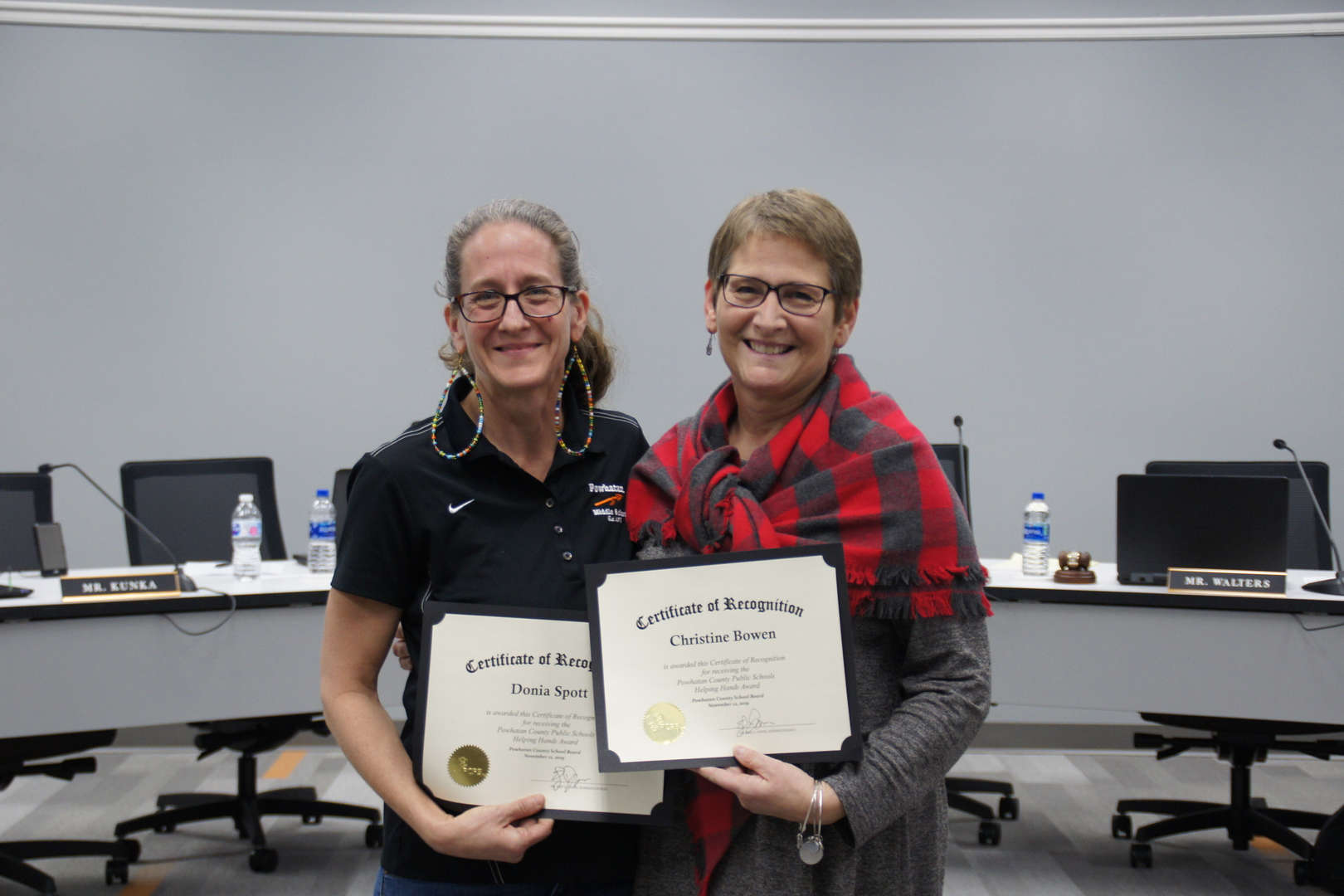 2019 Helping Hands Award Recipients: Donia Spott & Christine Bowen