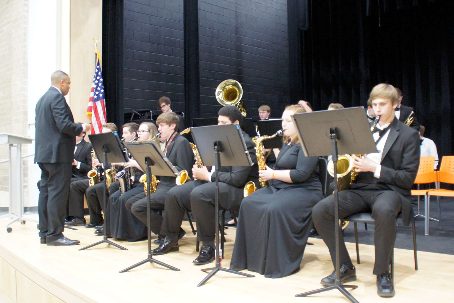 Powhatan High School Jazz Band performs at Southside Regional Forum