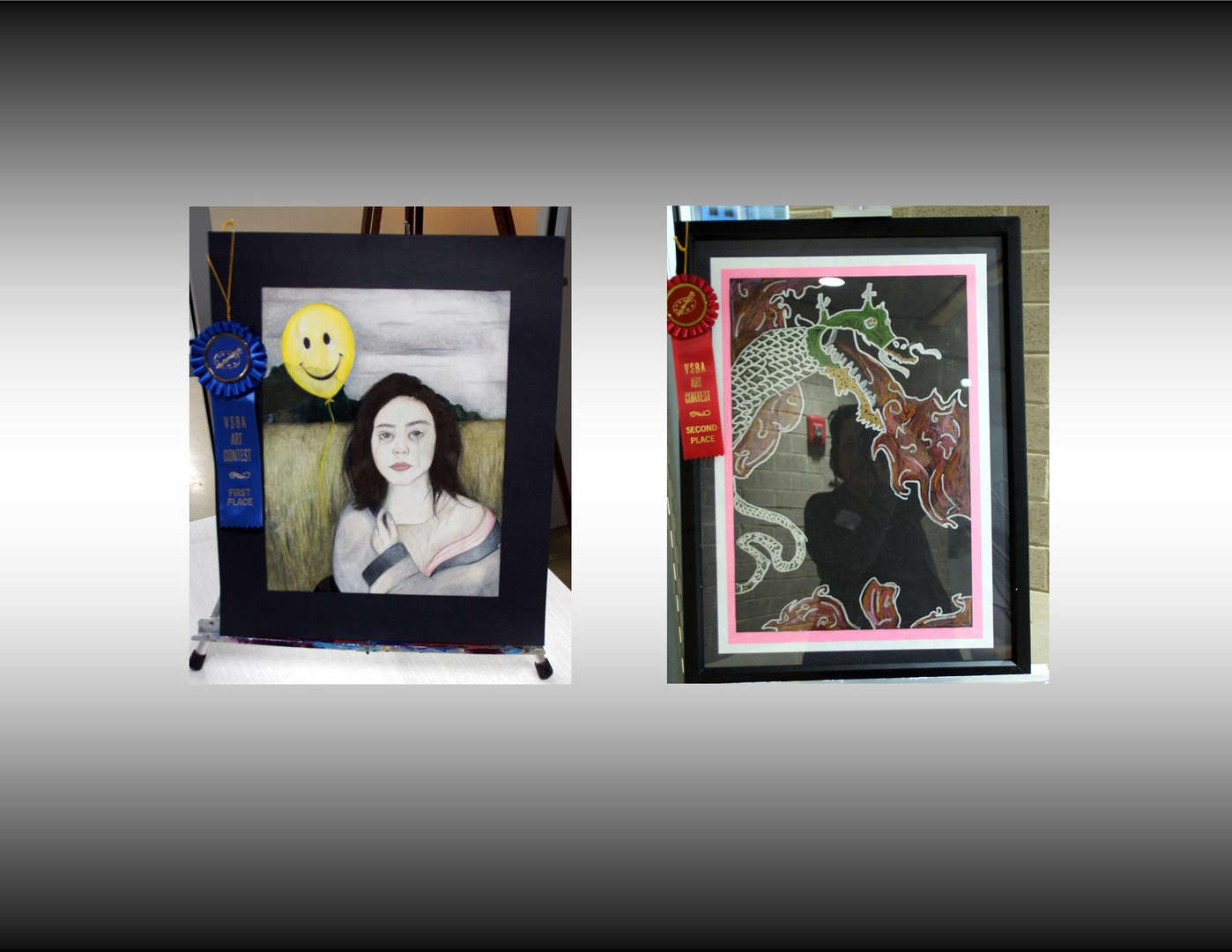 First and Second Place Artwork at Southside Regional Forum