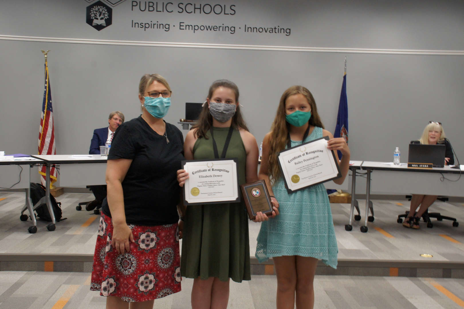 Jeanine Dolan, Elizabeth Dewey, and Bailey Pennington (L-R)