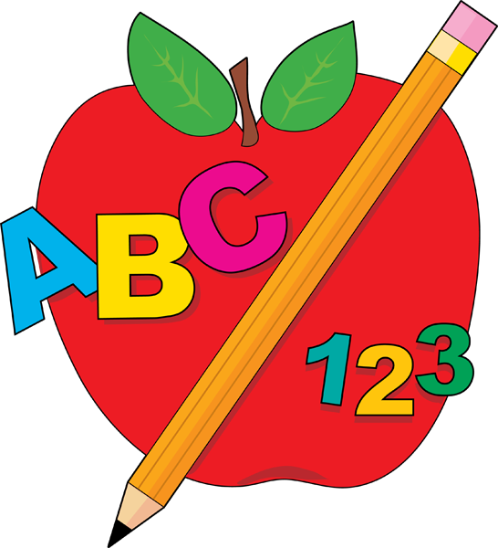 decorative apple abc 123 pencil