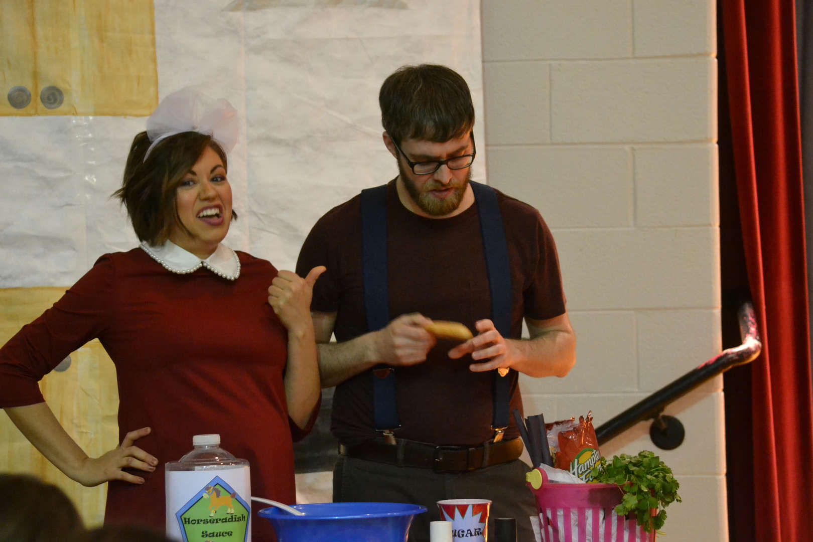 Mr. Wright and Mrs. Ellis in Scrambled Egg play