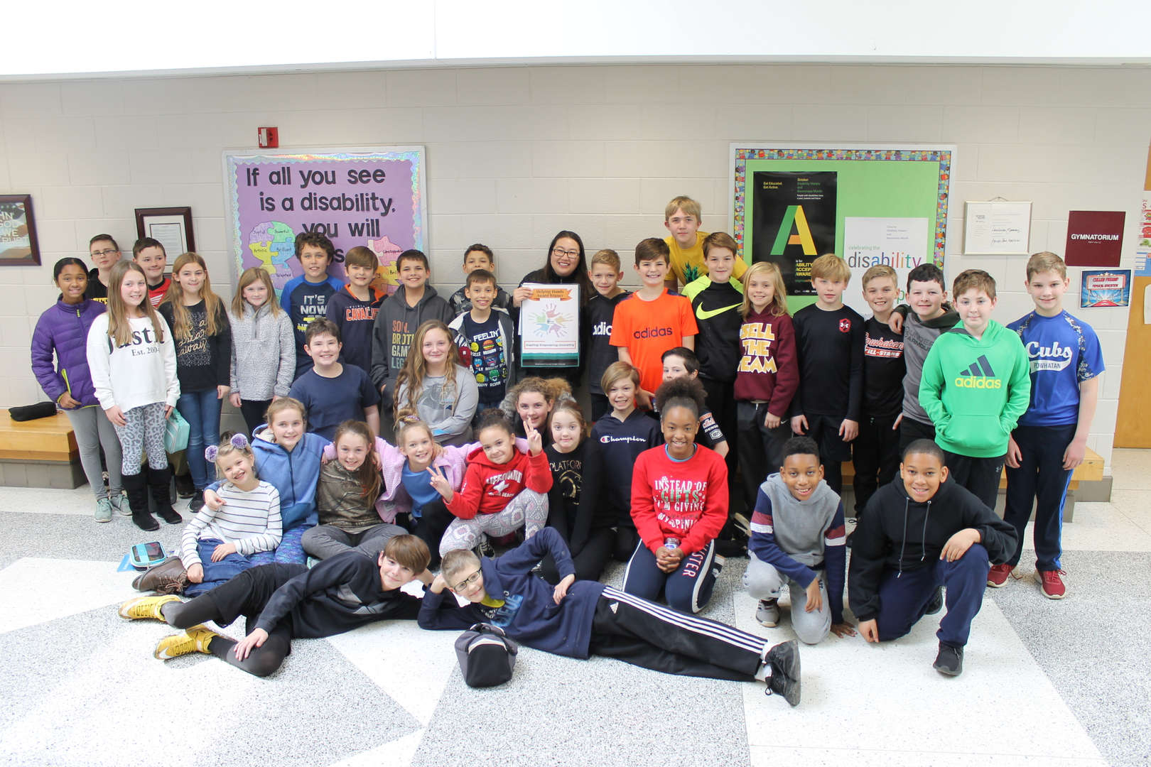 Mrs. Yoder and her class