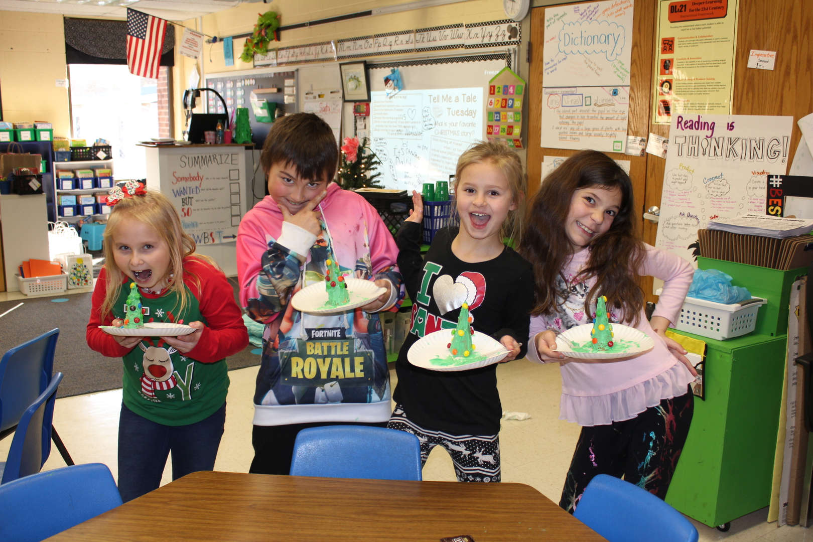 Holiday treats in third grade.