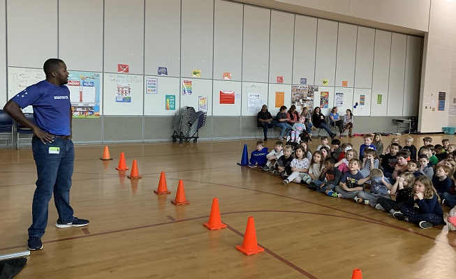 students watched boosterthon slide show