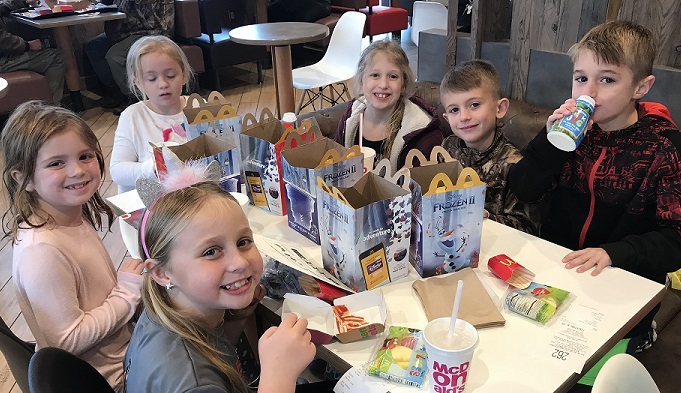 students enjoy field trip to McDonalds