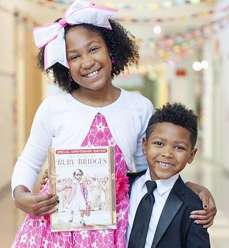 student dressed up as Ruby Bridges