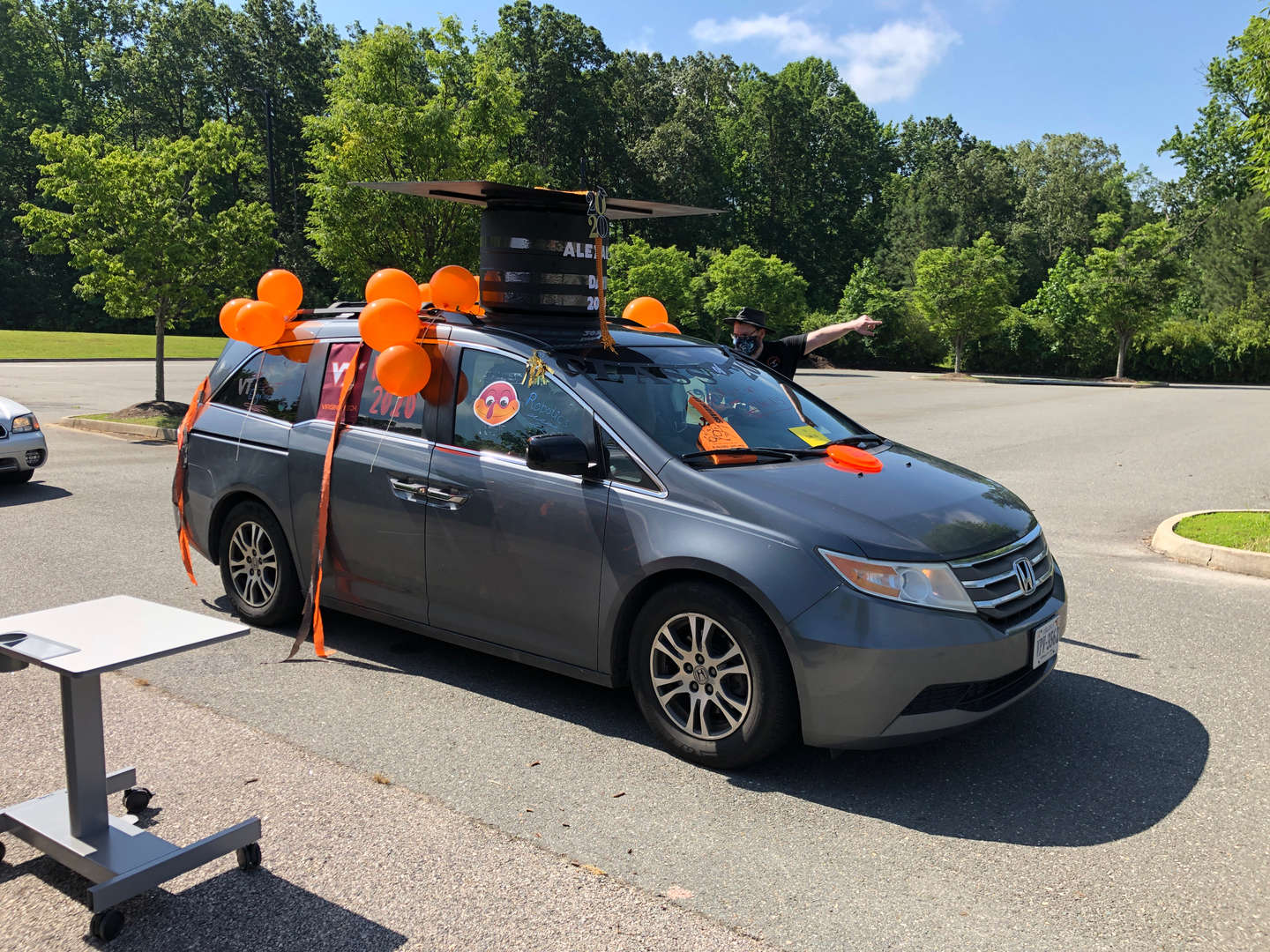 Alex Car with grad cap