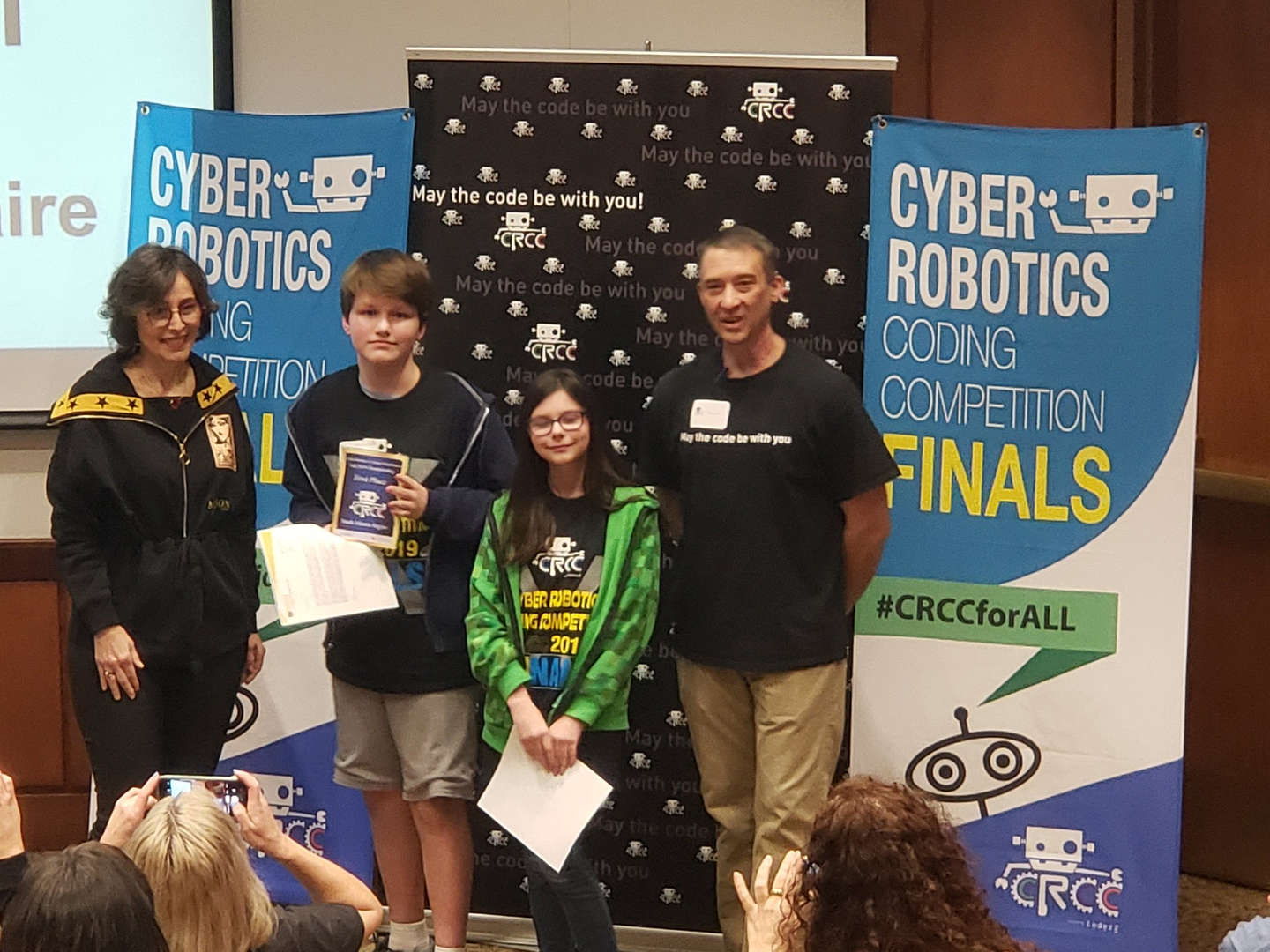 students at coding competition