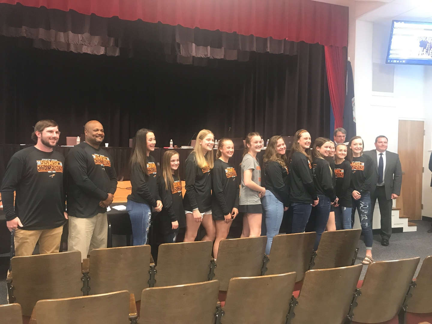 Girls Basketball team recognized at School Board meeting