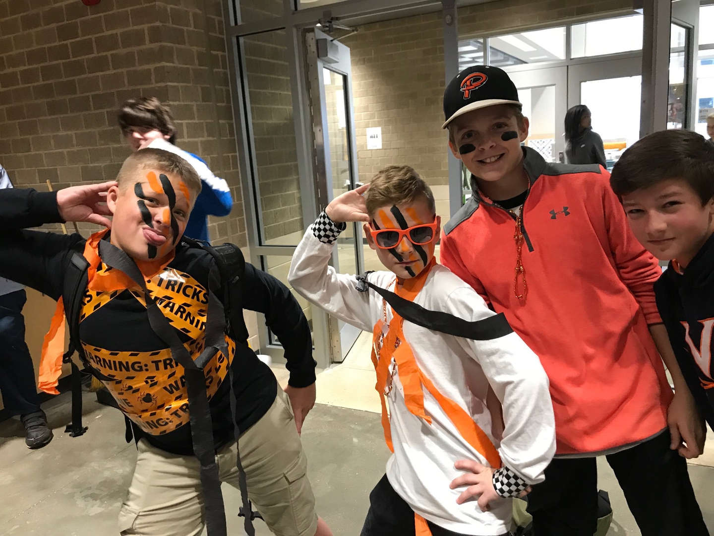 students wearing spirit costumes