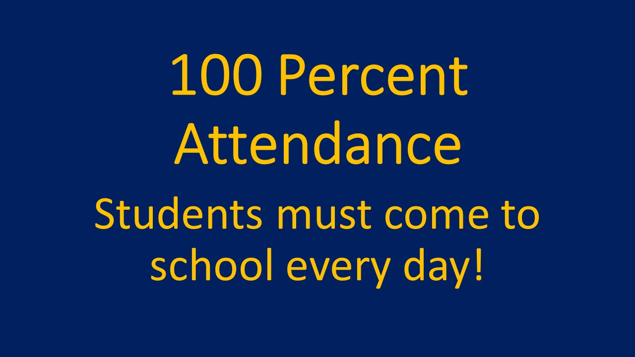 Students must attend class 100% of the time