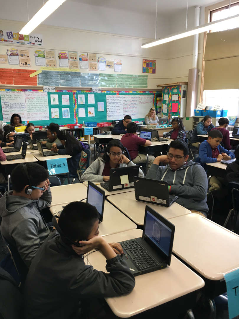 Students using laptop computers