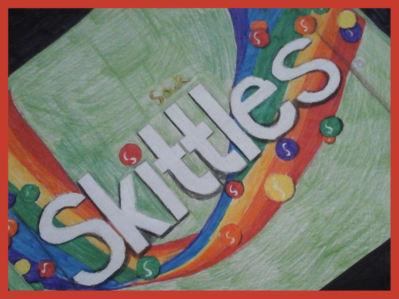 Skittles pop art