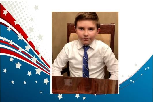 Meet our 5th grade  2020- 2021 Student Government President Angelo