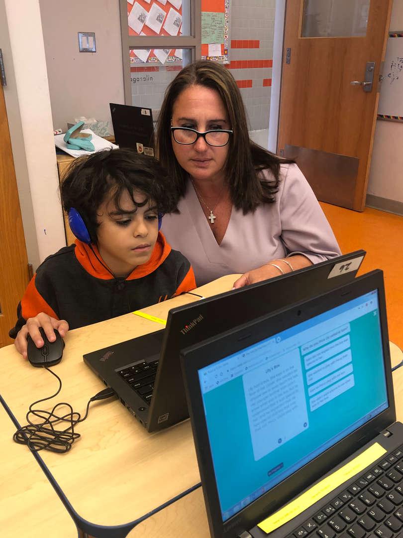 Ms. Matsikas Helps Her Scholar