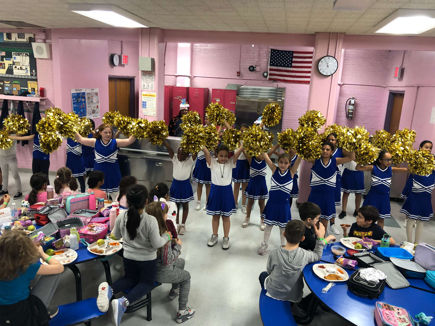 Cheerleaders Encourage Scholars