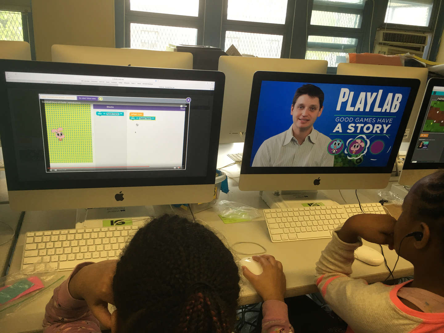 coding to create a story