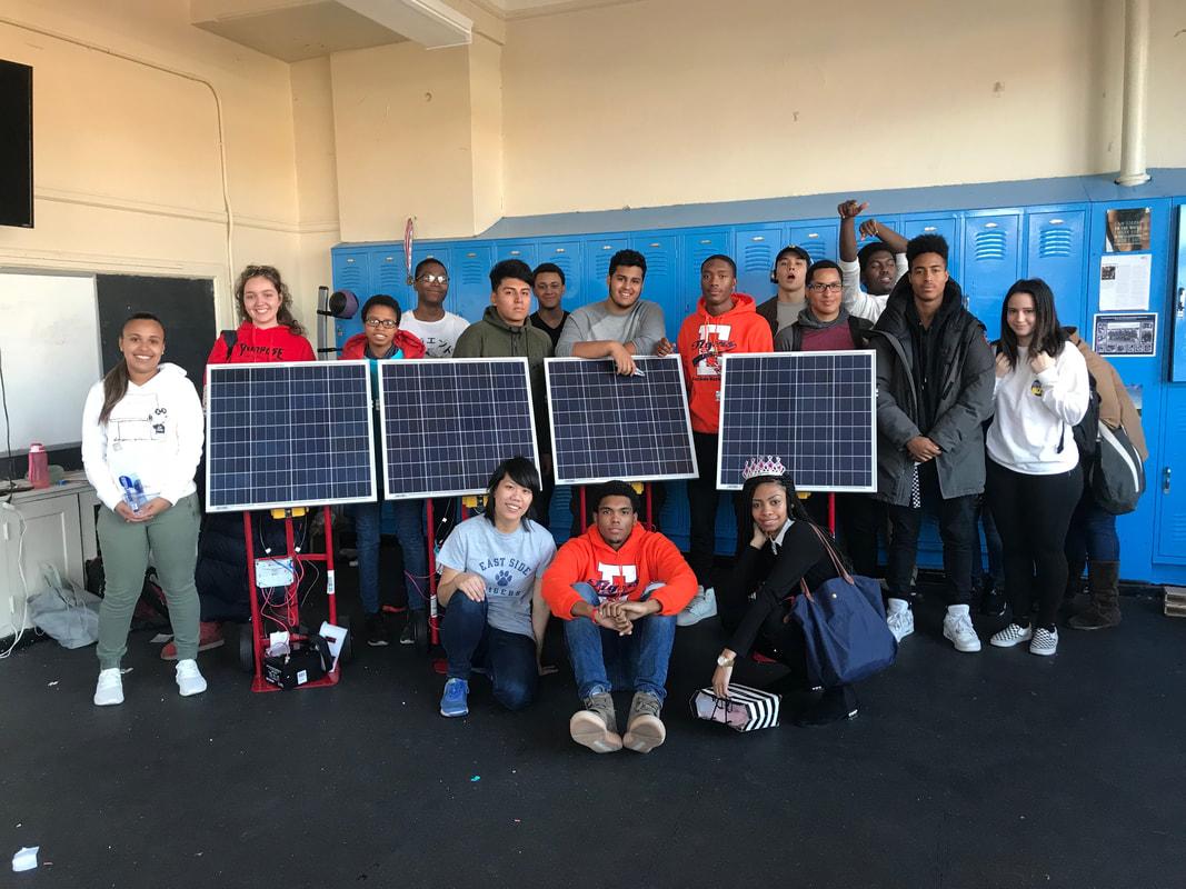 Sustainability Class Building Solar Panels