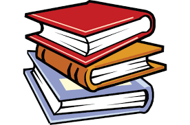 Cartoon stacked books
