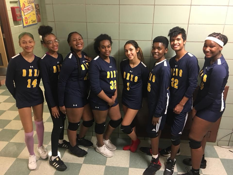 co-ed volleyball team
