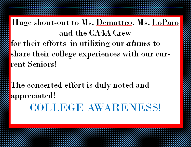 College Awareness message