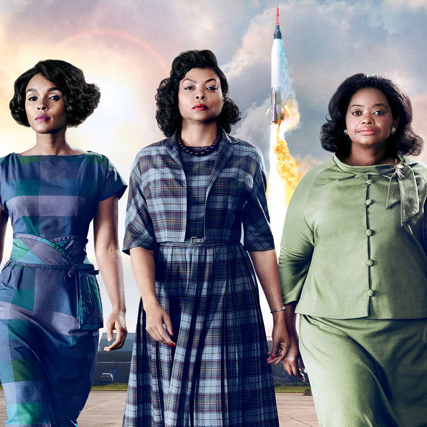 Three actresses from the movie Hidden Figures.