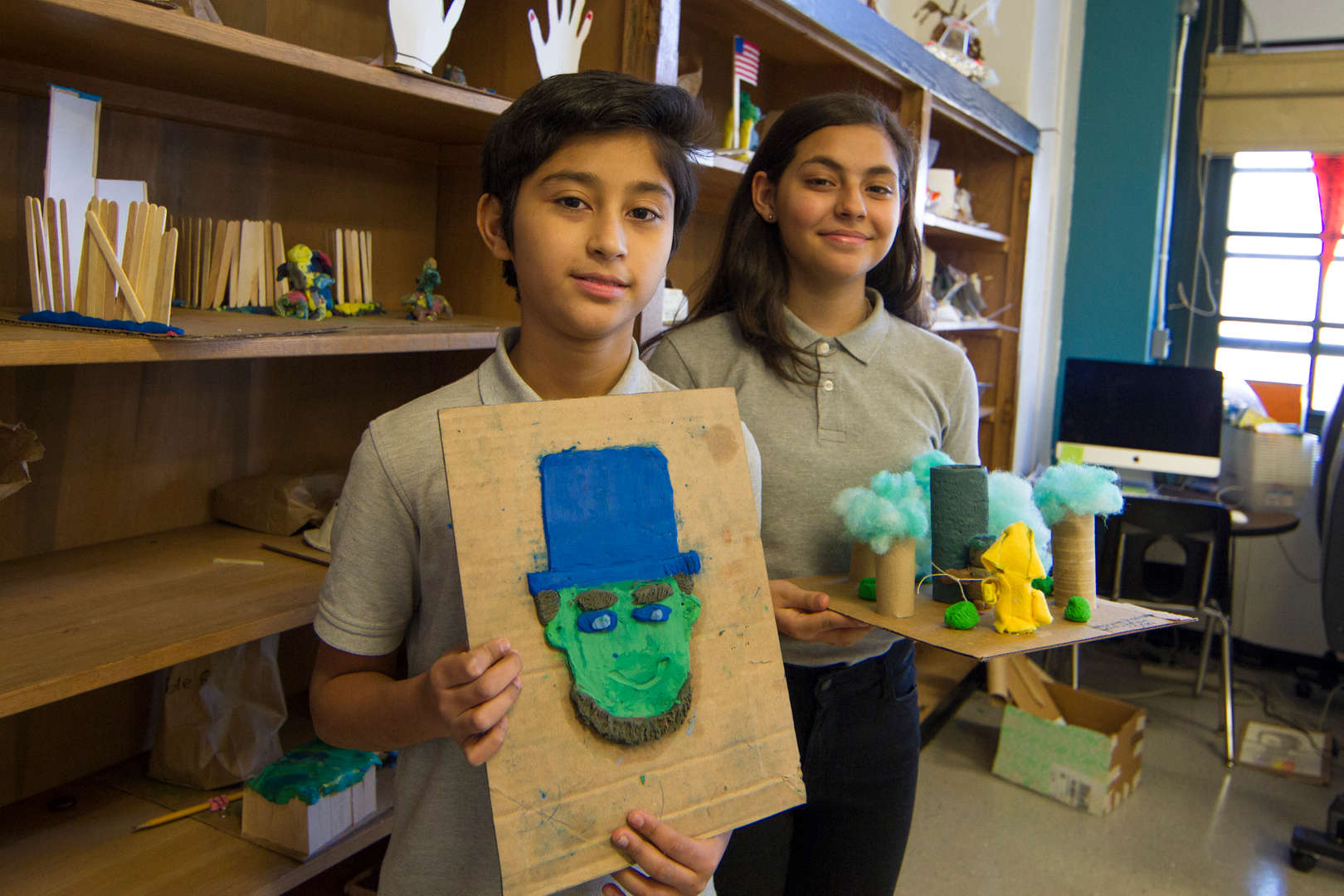 Students display art and science projects
