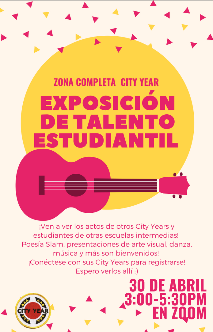 Event poster for a Student Showcase in Spanish.