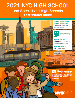 Cover of the 2020-21 High School Admissions Catalogue