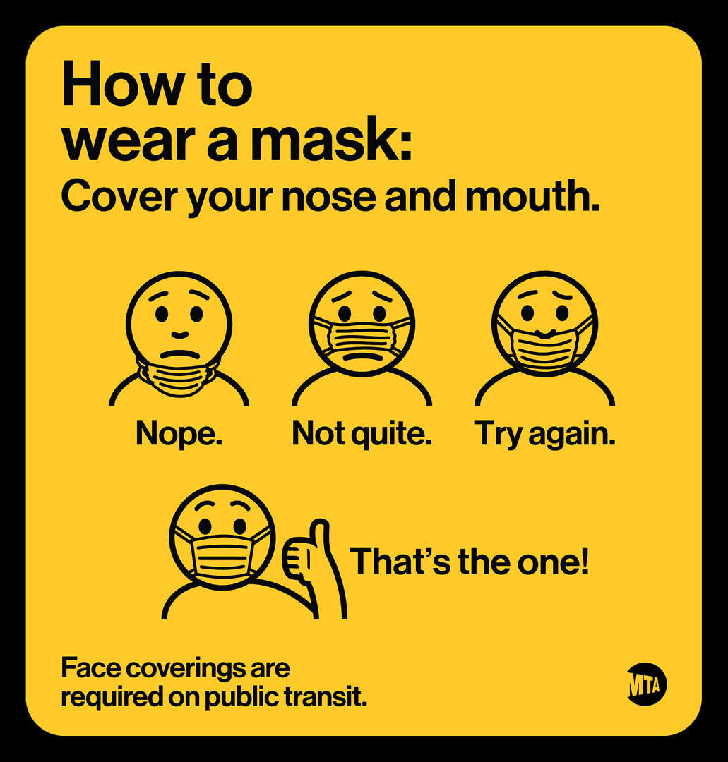 Wear a mask: Cover your nose and mouth.